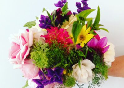 Flowers for celebration meal