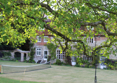The house through the walnut tree